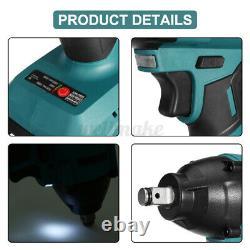 1200N. M Cordless Impact Wrench 1/2'' Drive Electric Ratchet Nut Gun 2 Batteries