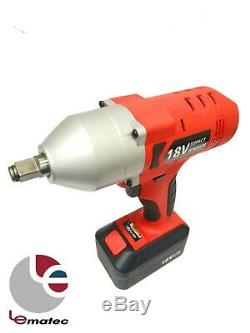 18V 1/2 Drive Cordless Impact Wrench Gun 850 N-M High Torque Industry Power