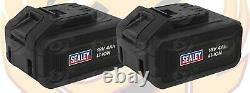 18v 1000Nm Cordless Impact Wrench Brushless Gun 1/2 Drive x2 4Ah Li-Ion Battery