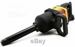 1 Inch Drive Silent Long Shank Air Impact Wrench Gun Truck Tire