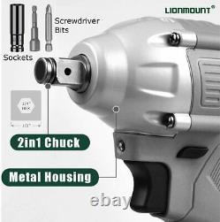 20V 2in1 1/2 Chuck Impact Wrench Driver Gun Torque Wrench set power tools case