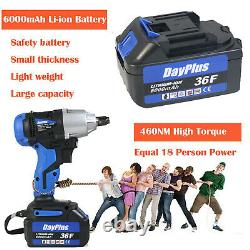 21V Cordless Impact Wrench Driver 420Nm Electric Rattle Nut Gun 1/2with Battery