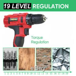21V Cordless Impact Wrench Gun 1/2 Inch + Cordless Driver Drill Screwdriver Set