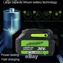 21v Cordless Li-Ion 1/2 Impact Wrench Drive Ratchet Rattle Nut Gun Socket +Case