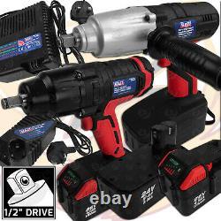 24V 26V Cordless Impact Wrench Gun SEALEY 1/2 Drive Battery Li-Ion Ni-MH 4.0Ah