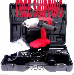 24V 300 Ft-LBS CORDLESS IMPACT WRENCH Gun with 2 Batteries & a Charger + Case