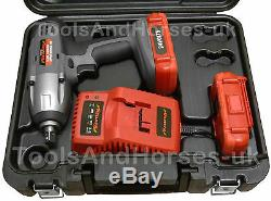 24v Li-Ion Cordless Impact Wrench Gun 1/2Dr 2 Batteries 3pc Alloy Wheel Sockets