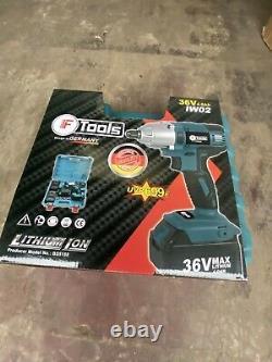 36v cordless impact wrench 1/2 2x Lithium Batteries 1x Charger Impact Gun
