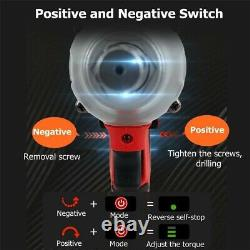 520Nm Heavy Duty Impact Wrench Electric 1/2 Gun Driver Lithium-Ion Nut Cordless
