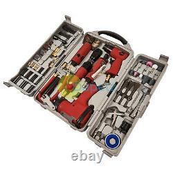77pc Air Tool Kit Impact Gun Grinder Wrench Hammer Chisel Compressor Storage