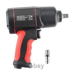Air Impact Wrench 1700Nm Composite Air Impact Gun Twin Hammer 1/2 Sq Drive