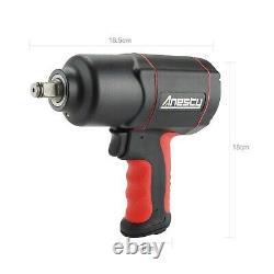 Air Impact Wrench 1/2, 1700Nm Heavy Duty Air Impact Gun Tool Twin Hammer 1/