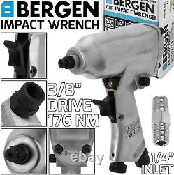 BERGEN 3/8 dr MINI AIR IMPACT WRENCH GUN 176Nm COMPACT IMPACT AIR GUN WRENCH