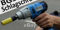 BGS Germany Cordless Battery Impact Driver Wrench Rattle Gun 1/2 520Nm 380ft/lb
