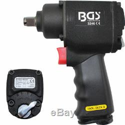 BGS Germany Palm Rattle Gun Impact Driver Wrench 1/2drive 680Nm 1/4 Air Tools