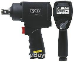 BGS Germany Powerfull 3/4 Drive 1/4 Air Tools Impact Driver Wrench Rattle Gun