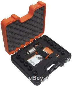 Bahco BP816K1 3/8 Drive Air Impact Wrench Gun + 10-24mm Sockets & Case Set Kit