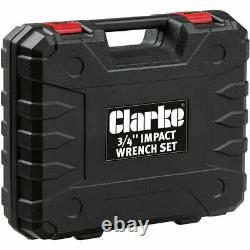 Clarke 3/4 Drive 710Nm Impact Wrench Gun (230V) With 24-36MM Sockets & Case