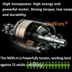 Cordless Impact Wrench Gun Driver 1/2 Ratchet 460Nm Drive 4 Socket + 2 Battery