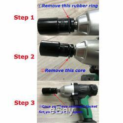 DEWORX 21V Cordless Impact Wrench Gun 1/2 Drive Reversible +Case +1 Battery