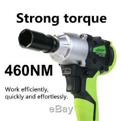 DEWORX 21V Cordless Impact Wrench Gun 1/2 Drive Reversible +Case +2 Batteries