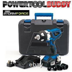Draper 01031 82983 Storm Force Impact Wrench 2 x 20volt Li-ion Battery
