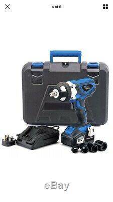 Draper 82983 20V 1/2 Drive Cordless Impact Wrench Gun 2 Batteries & Charger