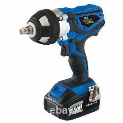 Draper 82983 Storm Force Cordless Impact Wrench 1/2 2 x 20volt Li-ion & Sockets