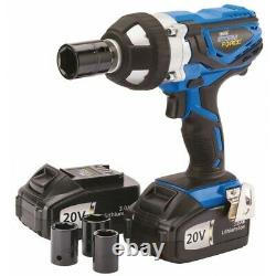 Draper 82983 Storm Force Cordless Impact Wrench 2x 20volt Li-ion & Sockets