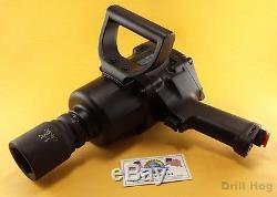 Drill Hog 1 Air Impact Wrench Air Gun Twin Hammer 2000 Ft LBS Lifetime Warranty