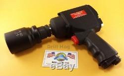 Drill Hog 3/4 Air Impact Wrench Gun Twin Hammer 1500 Ft LBS Lifetime Warranty