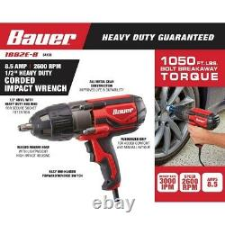 Electric 1/2 Impact Wrench Gun, Torque Wrench, Lug Wrench Impact Driver 8.5 AMP