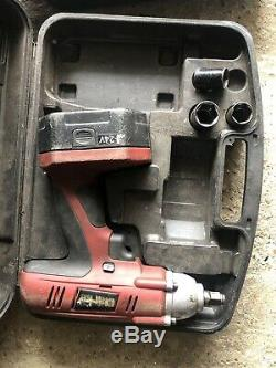 Electric impact wrench 1/2 drive 4 sockets rachet gun heavy duty