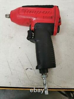 Hardly Used Snap On 3/8 MG325 Metal Air Impact Gun Wrench Red with green cover