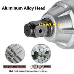 Heavy Duty Electric Impact Wrench Gun 1/2 Drive 460NM + 4 Sockets & 2 Batteries