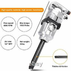 Heavy Duty Long Shank Air Impact Wrench Gun for General Repair Work 1 Inch
