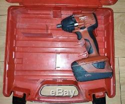 Hilti Siw 22a Cordless Impact Wrench Nut Gun 1/2 Drive 22v With 3.3 Ah Battery