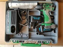 Hitachi Hikoki 1/2 12V Impact Wrench nut driver gun kit 2 battery Cordless inch
