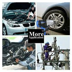 Impact Wrench Electric Cordless Driver 1/2 + Worklight Car Repair Wheel Nut Gun