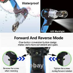 Impact Wrench Sockets Set Cordless 1/2 Rattle Gun Electric Wrench Tool Battery