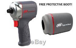 Ingersoll Rand 15QMAX 3/8 Drive Quiet Stubby Impact Gun Wrench With Free Boot