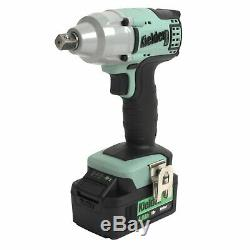 Kielder KWT-002-08 1/2 Impact Wrench / Gun 18v + TWO 4.0Ah Batteries + Sockets