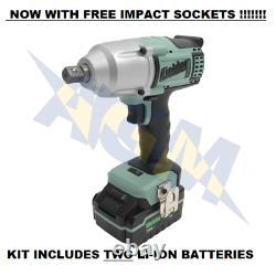 Kielder KWT-012 Cordless 1/2 Impact Wrench 700Nm Torque 18v + TWO 4.0Ah Battery