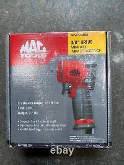 Mac tools snap on 3/8 drive mini air impact wrench gun awp038m