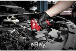 Milwaukee 2552-20 M12v FUEL Stubby Cordless 1/4 Sq Short Impact Gun Wrench 2018