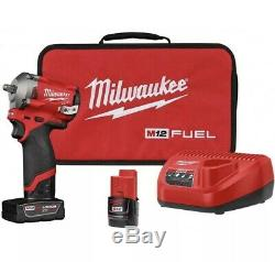 Milwaukee 2554-22 M12 FUEL Stubby Cordless 3/8 Drive Impact Gun Wrench Kit