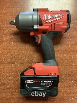 Milwaukee 2767-20 M18 FUEL 1/2 Drive Impact Wrench Gun With HD 9.0 Battery