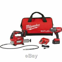 Milwaukee 2767-22GG M18 FUEL High Torque ½ Impact Wrench with Grease Gun