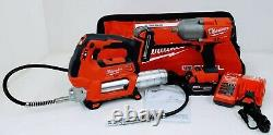 Milwaukee 2767-22GG M18 Fuel 1/2 High Torque Impact Wrench with M18 Grease Gun