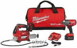 Milwaukee 2767-22GG M18 Fuel 1/2 Impact Wrench Kit with M18 Grease Gun